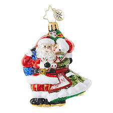 mr mrs mistletoe gem 1018759 christopher radko ornament