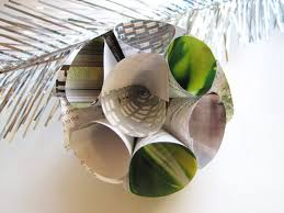diy recycled paper ornaments