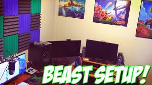 youtuber gaming setup my ultimate 2015 studio tour youtube