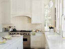Backsplash With White Kitchen Cabinets White Kitchen Decorating Ideas With Classic Subway Tiles