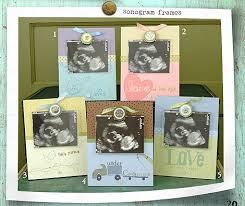 sonogram photo album charming sonogram photo frame a new baby captured by blue