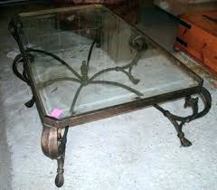 coffee table with iron base glass top coffee tables with wrought iron base round glass top