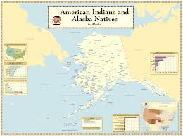 Alaska On Us Map by Map Of American Indians And Alaska Natives In Alaska American