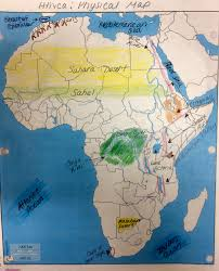 Africa Physical Map by Africa Mrs Coates U0027 World Studies And Ancient Civilizations