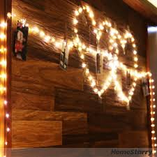 starry string lights warm white color led u0027s on a flexible copper
