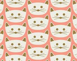 cat christmas wrapping paper cat christmas etsy