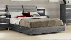Birch Bedroom Furniture Furniture Elite Grey Birch Platform Bed In Grey