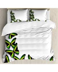 decorative bed pillows shams new savings on jamaican king size duvet cover set buterflies flag