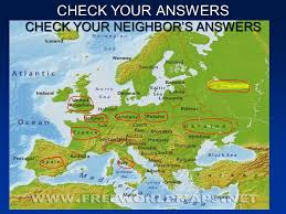 europe phisical map physical map of western europe ppt