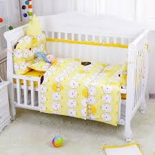 5 pcs cartoon design summer bumper in crib long side air mesh baby