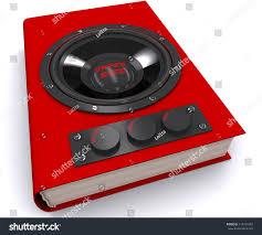 book builtin speaker volume 3d stock illustration