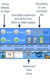 Padi Dive Table by Easy Dive Tables Android Apps On Google Play