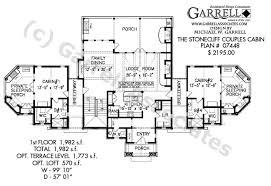 mountain cabin floor plans stonecliff couples cabins house plans by garrell associates inc