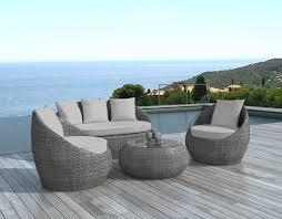 canape jardin resine tressee promo salon jardin mobilier de jardin pas cher en resine tressee