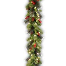 national tree 9 foot by 10 inch crestwood spruce garland with