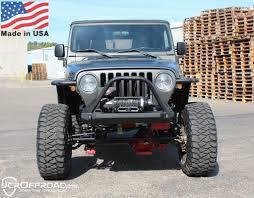 jeep winch bumper yj front winch bumper dagger stubby powder coat jcr offroad 4