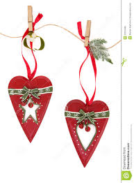 White Heart Christmas Decorations by Retro Christmas Decorations Royalty Free Stock Images Image