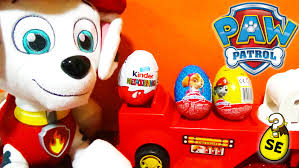 3 paw patrol surprise eggs kinder surprise toys