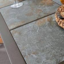 slate outdoor dining table tile top patio dining table aluminum cast tile top patio dining