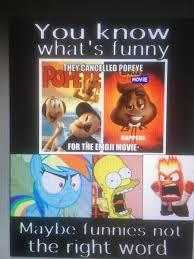 popeyes was cancelled for the emoji movie album on imgur