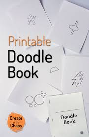printable doodle book create in the chaos