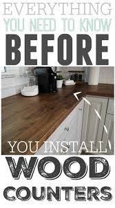 Wood Kitchen Countertops by Everything You Need To Know Before You Install Wooden Counter Tops