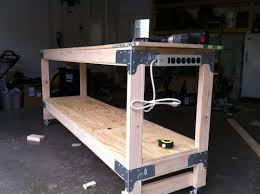 Work Benches With Storage How To Build A Heavy Duty Work Bench Might Be A Good Project When