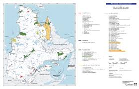 Quebec Map Quebec National Parks And Natural Regions Existing And Planned