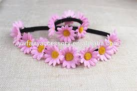 flower bands fabric flower headband flower wrist band kids flower elastic