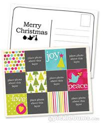 2011 christmas printable series christmas postcard template