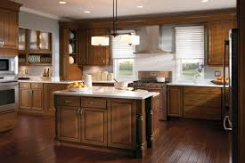 eye catching two tone kitchen color schemes with cabinets best
