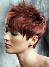 very short razor cut hairstyles short razor cut red hair prom up dos pinterest short red