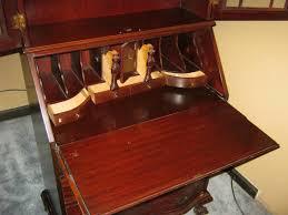antique secretary desk with hutch drop front
