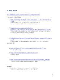 maths physics websites gce advanced level united kingdom