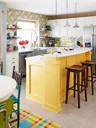 colorful kitchen islands 27 yellow kitchen decor ideas to raise your mood digsdigs