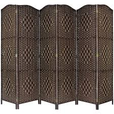 Wicker Room Divider Solid Weave Made Wicker Folding Room Divider Separator