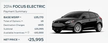 ford focus model years report ford slashes focus electric price by 6 000 now starts at