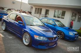 peanut eye subaru mitsubishi lancer evolution ix and peanut eye subaru wrx a photo