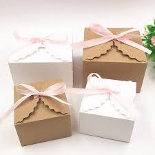 wedding boxes 30pcs lot kraft paper square candy box rustic wedding favors candy