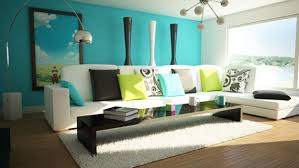 Brown And Blue Living Room by Teal Blue Living Room Modern Design Brown Leather Sofa Stripped