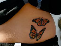 50 cute butterfly tattoos on waist