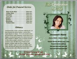 memorial service programs template microsoft office word in many