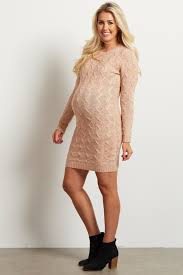 pale pink cable knit sweater dress