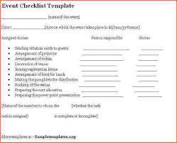 sample event checklist template event planning checklist doc