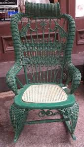 vintage childs rocking chair green wicker rocking chair wicked