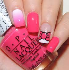 nail art tutorial hello kitty bow and gradient nail it