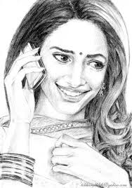 awesome pencil sketch of tamannah bhatia indian celebuzz