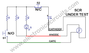 scr tester electronic circuits