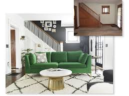 Anthropologie Inspired Living Room by Remodelaholic Before After Living Room Renovation