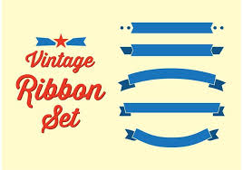 vintage ribbon vintage ribbon set free vector stock graphics images